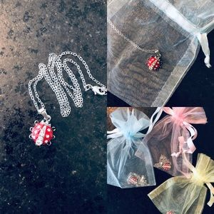 New, Ladybug 🐞 Necklaces in Sheer Gift Bags